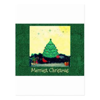 Cheery Christmas scene Postcard