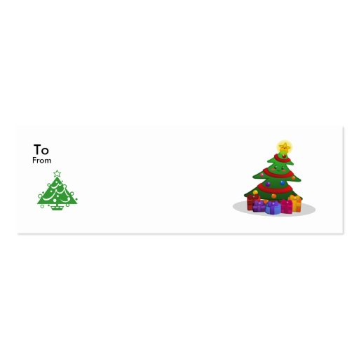 Cheery Christmas Tree Tags Business Cards
