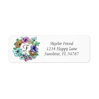 CHEERY FLOWER RING   return labels