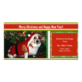 Cheery Holiday Greetings Custom Photo Personalized Customized Photo Card