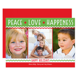 Cheery Holiday (Red / Green) Photo Collage Card