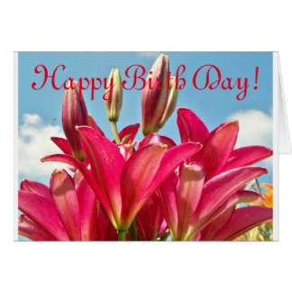 Cheery Lily Happy Birth Day Card