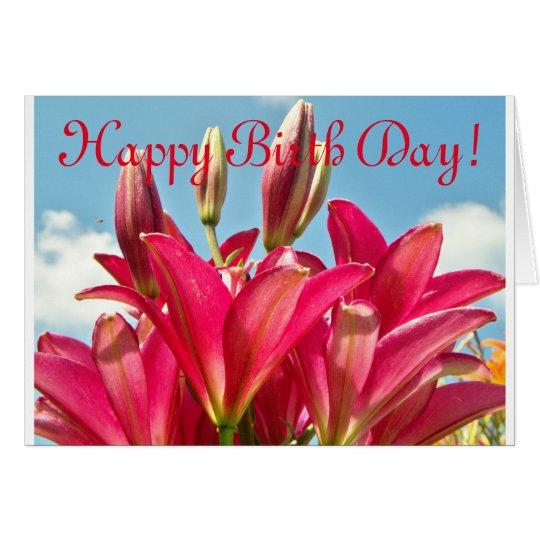Cheery Lily Happy Birth Day Card