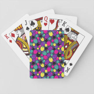 """Cheery """"olives"""" playing cards"""