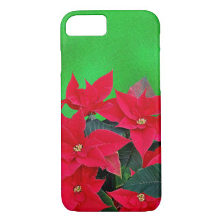 Cheery poinsettia Christmas cell phone case