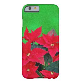Cheery poinsettia Christmas iPhone 6 case