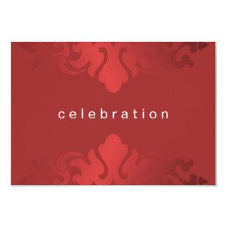 "Cheery Red Christmas Company Party 3.5"" X 5"" Invitation Card"