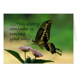 Cheery Reminder Greeting Card
