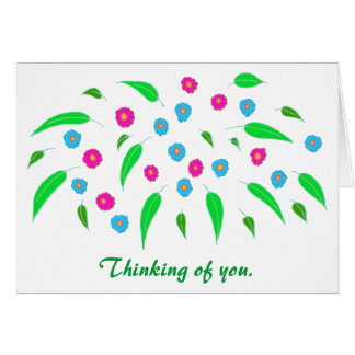 Cheery Spring Flowers Thinking of You Cards