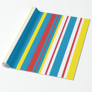 Cheery striped holiday wrapping paper