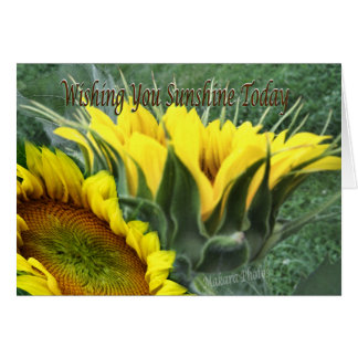 cheery Sunflower- customize Card