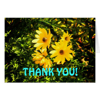 Cheery Sunflower Thank You Greeting Card
