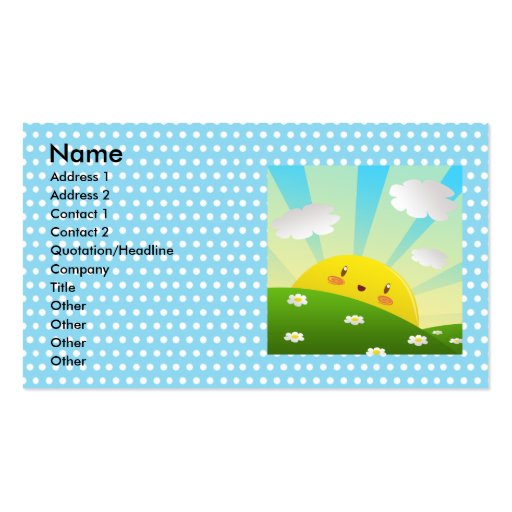 Cheery Sunrise 2 Business Card