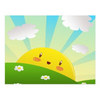 Cheery Sunrise Postcard