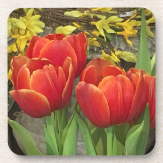Cheery Tulips Drink Coaster