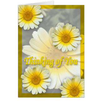 Cheery Yellow Daisies Thinking of You Card