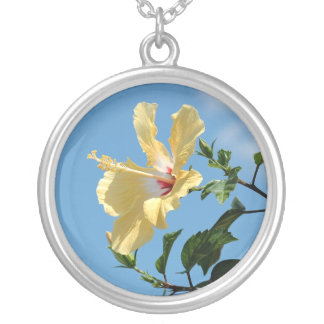 Cheery yellow hibiscus flower Necklace