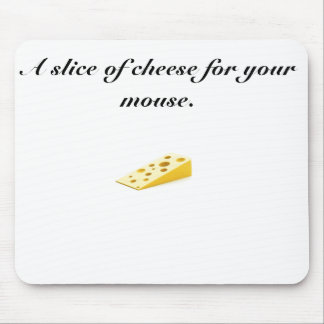 cheese, A slice of cheese for your mouse. Mouse Mat