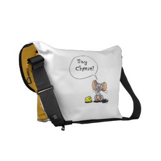 cheese and mouse commuter bag