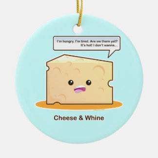 Cheese and Whine Christmas Ornament