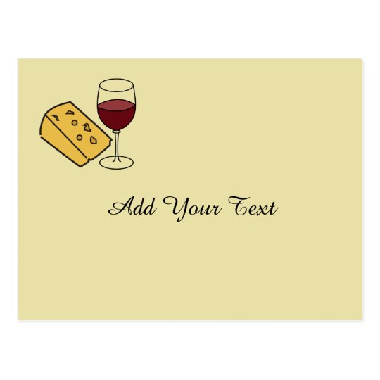 Cheese and Wine Party Custom Invitation Postcard