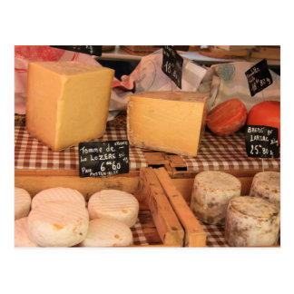 Cheese at a market postcard