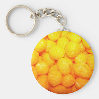 cheese balls basic round button key ring