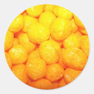 cheese balls classic round sticker