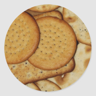 Cheese Biscuits Classic Round Sticker