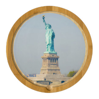 Cheese Board - Statue of Liberty, New York City Round Cheese Board