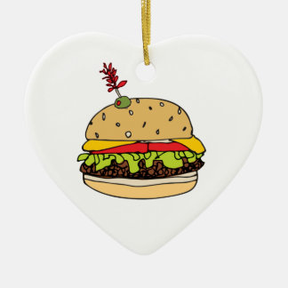 Cheese Burger Deluxe Personalize Christmas Ornament