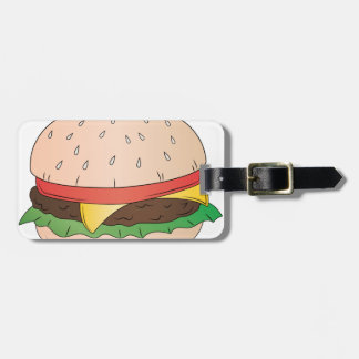 Cheese Burger Luggage Tag