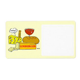 Cheese Cartoon Food Storage Funny Label Shipping Label