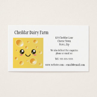 Cheese Dairy Farm Business Cards