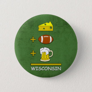 Cheese Football Beer Wisconsin Funny 6 Cm Round Badge