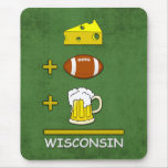 Cheese Football Beer Wisconsin Mouse Mat