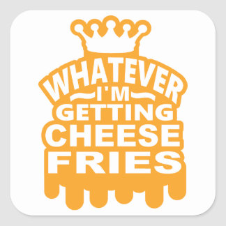 Cheese Fries Square Sticker