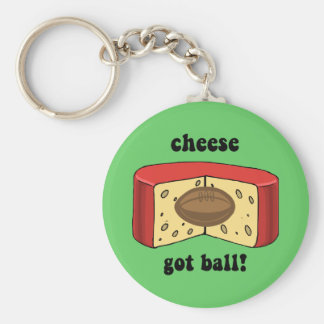 cheese got ball key ring