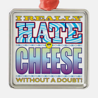 Cheese Hate Face Christmas Ornament
