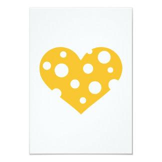 "Cheese heart 3.5"" x 5"" invitation card"