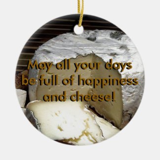 Cheese it up! Fun Cheese Gift for cheese lovers Double-Sided Ceramic Round Christmas Ornament