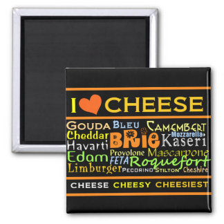 Cheese Lovers Square Magnet