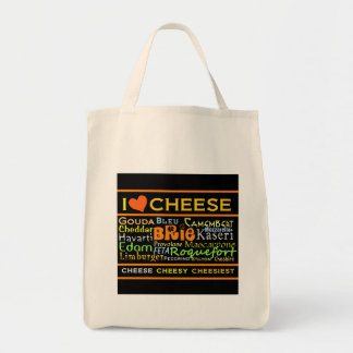 Cheese Lovers Grocery Tote Bag