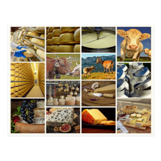 Cheese, milk product, food, eat,käseplatte collage postcard