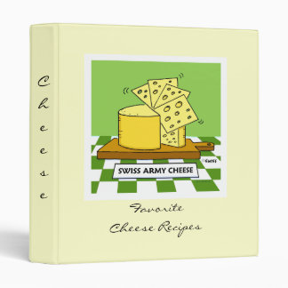 Cheese Recipes Binder with Funny Cartoon