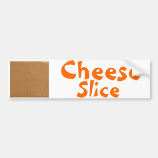 Cheese Slice Car Bumper Sticker