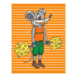 Cheese Weightlifting Mouse 21.5 Cm X 28 Cm Flyer
