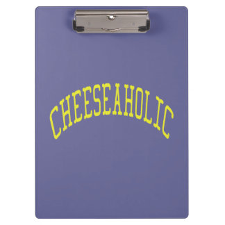 Cheeseaholic Cheese Lover - Blue Background Color Clipboards