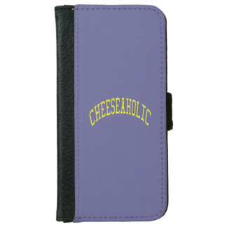 Cheeseaholic Cheese Lover - Blue Background Color iPhone 6 Wallet Case