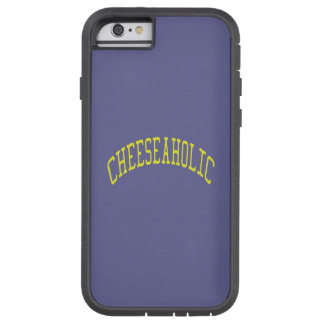 Cheeseaholic Cheese Lover - Blue Background Color Tough Xtreme iPhone 6 Case